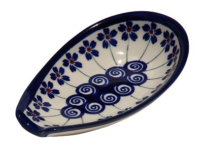 Polish Pottery Spoon Rest, Classic Design 1085a