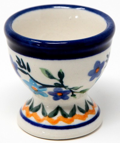 Egg Cup Holly Berries Polish Pottery 1154a Design