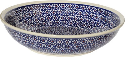 Polish Pottery Bowl 10 Inch, Classic Design 120