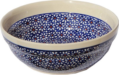 Polish Pottery Cereal / Salad Bowl  Decoration Inside, Classic Design 120