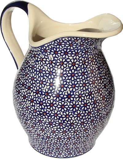 Polish Pottery Pitcher, Classic Design 120