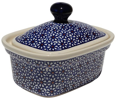 Polish Pottery Butter Tub, Classic Design 120