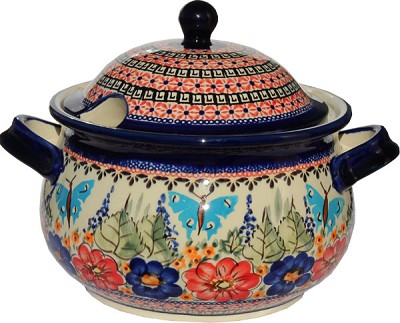 Polish Pottery Soup Tureen, Unikat Signature 149 Art