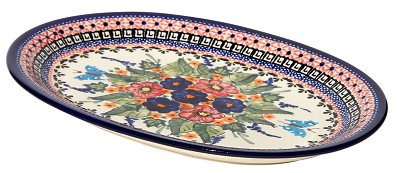Polish Pottery Medium Serving Platter, Unikat Signature 149 Art