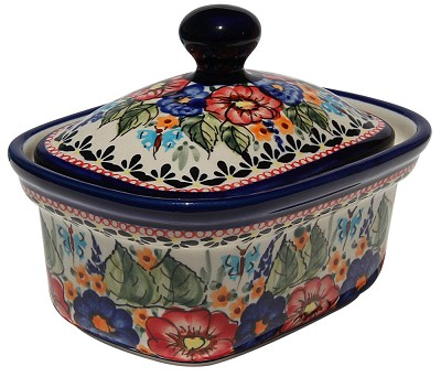 Polish Pottery Butter Tub