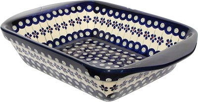 Polish Pottery Baker with Handles 9