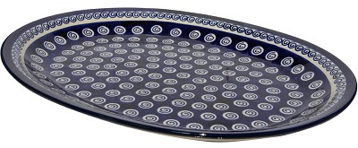 Polish Pottery Large Serving Platter, Classic Design 174a