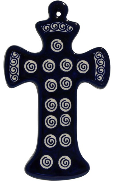 Polish Pottery Cross, Classic Design 174a
