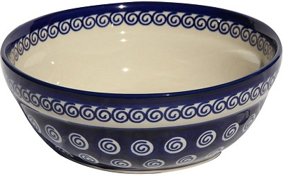 Polish Pottery Cereal / Salad Bowl, Classic Design 174a