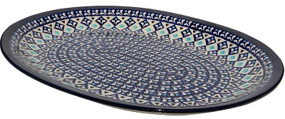 Polish Pottery Large Serving Platter, Classic Design 217a