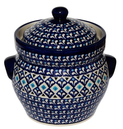 Polish Pottery Fermenting Crock Pot 7 Cups, Classic Design 217a