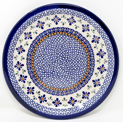 Dinner Plate Polish Pottery in Mosaic Flower Pattern