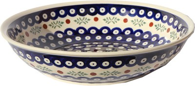 Polish Pottery Bowl 10 Inch, Classic Design 242