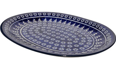 Polish Pottery Large Serving Platter, Classic Design 243a
