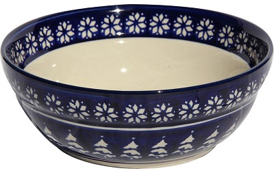 Polish Pottery Cereal / Salad Bowl, Classic Design 243a
