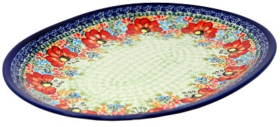 Polish Pottery Large Serving Platter, Unikat Signature Design 296 Art