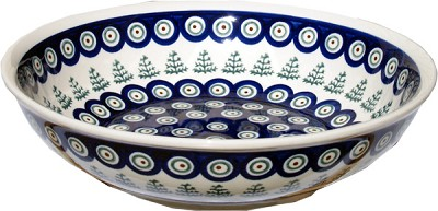 Polish Pottery Bowl 10 Inch, Classic Design 312