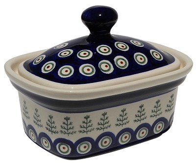 Polish Pottery Butter Tub, Classic Design 312