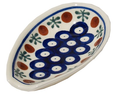 Polish Pottery Spoon Rest, Classic Design 41