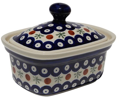 Polish Pottery Butter Tub, Classic Design 41