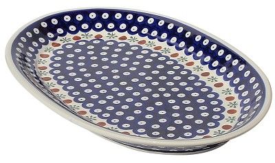 Polish Pottery Large Oval Platter, Classic Design 41