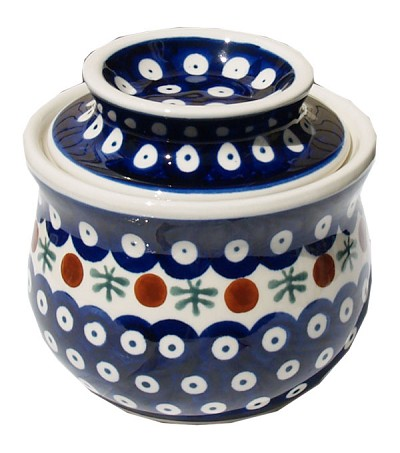 Polish Pottery French Butter Dish
