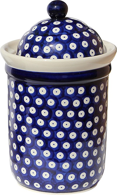 Polish Pottery Canister 5.5 Cups, Classic Design 42