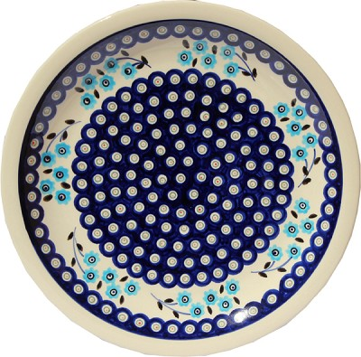 Polish Pottery Dinner Plate, Classic Design 453
