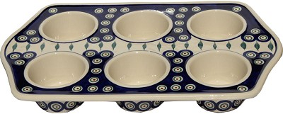 Polish Pottery Muffin Pan
