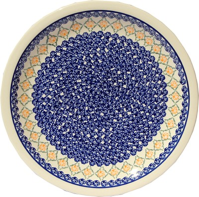 Polish Pottery Dinner Plate, Classic Design 869