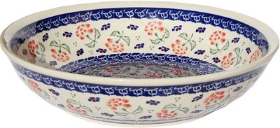 Polish Pottery Bowl 10 Inch, Classic Design 963