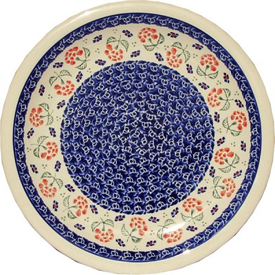 Polish Pottery Dinner Plate, Classic Design 963