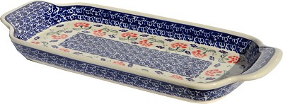 Polish Pottery Bread Tray, Classic Pattern 963