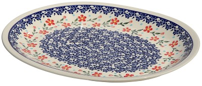 Polish Pottery Large Serving Platter, Classic Design 964