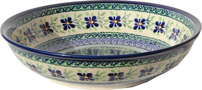 Polish Pottery Bowl 10 Inch, Unikat Design DU121