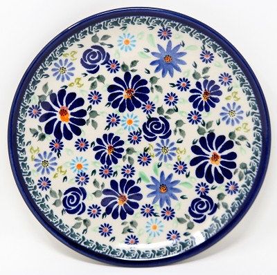 Salad Plate in Polish Pottery Design DU126 from Zaklady 7.5