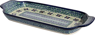 Polish Pottery Bread Tray, Unikat Pattern DU121