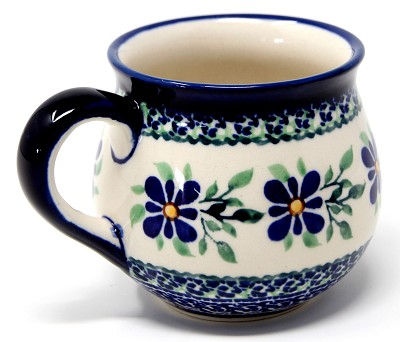 Polish Pottery Mug 8 Oz.