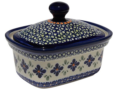 Polish Pottery Butter Tub, Unikat Design DU60
