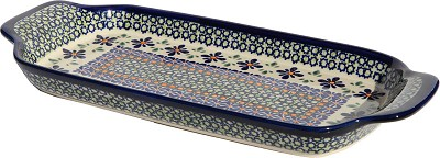 Polish Pottery Bread Tray, Unikat Pattern DU60