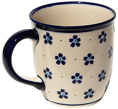 Polish Pottery Mug 12 Oz. Classic Design 165a